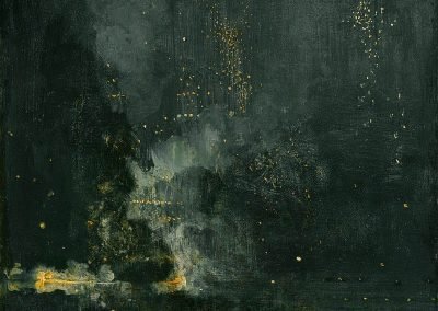 Whistler Nocturne in black and gold