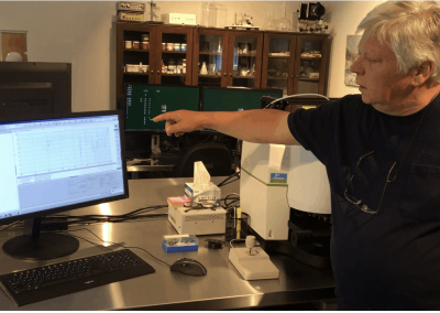 Paul Biro in his Lab