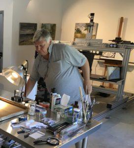 Paul Biro working his his Lab.