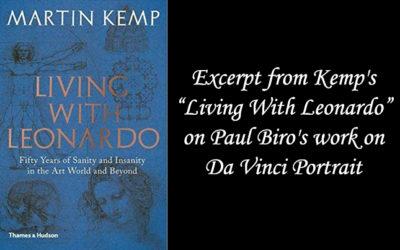 Professor Martin Kemp Praises Work of Paul Biro on Da Vinci Portrait