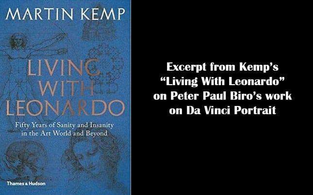 Professor Martin Kemp Praises Work of Peter Paul Biro on Da Vinci Portrait